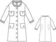 PDF型紙 衿なしロングカットソージャケット Orangery~オランジェリー