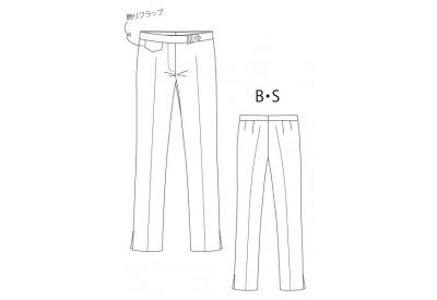PDF型紙  クロップドストレッチパンツ 4Dupon2010~デュポン