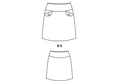 PDF型紙 台形ローライズスカート 959