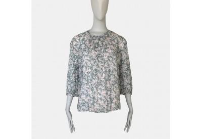 縫い代付き印刷済み型紙 6Elflower 小さい衿明きのタックブラウス