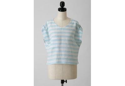 縫い代付き印刷済み型紙  ロールアップ袖のルーズトップス 6Esty~エスティ