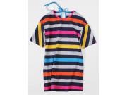 縫い代付き印刷済み型紙 7Rara 衿バインダーリボンのロングTシャツ