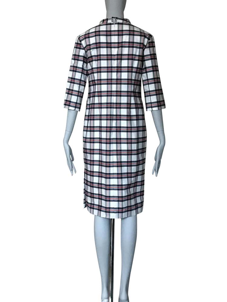 型紙通販、8Salus 立ち衿つき七分袖ワンピース